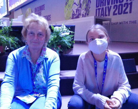 Valeria fieramente e greta Thurnberg al youth4 climate